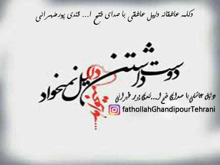 دانلود دکلمه عاشقانه دلیل عاشقی با صدای فتح ا... قندی پور طهرانی