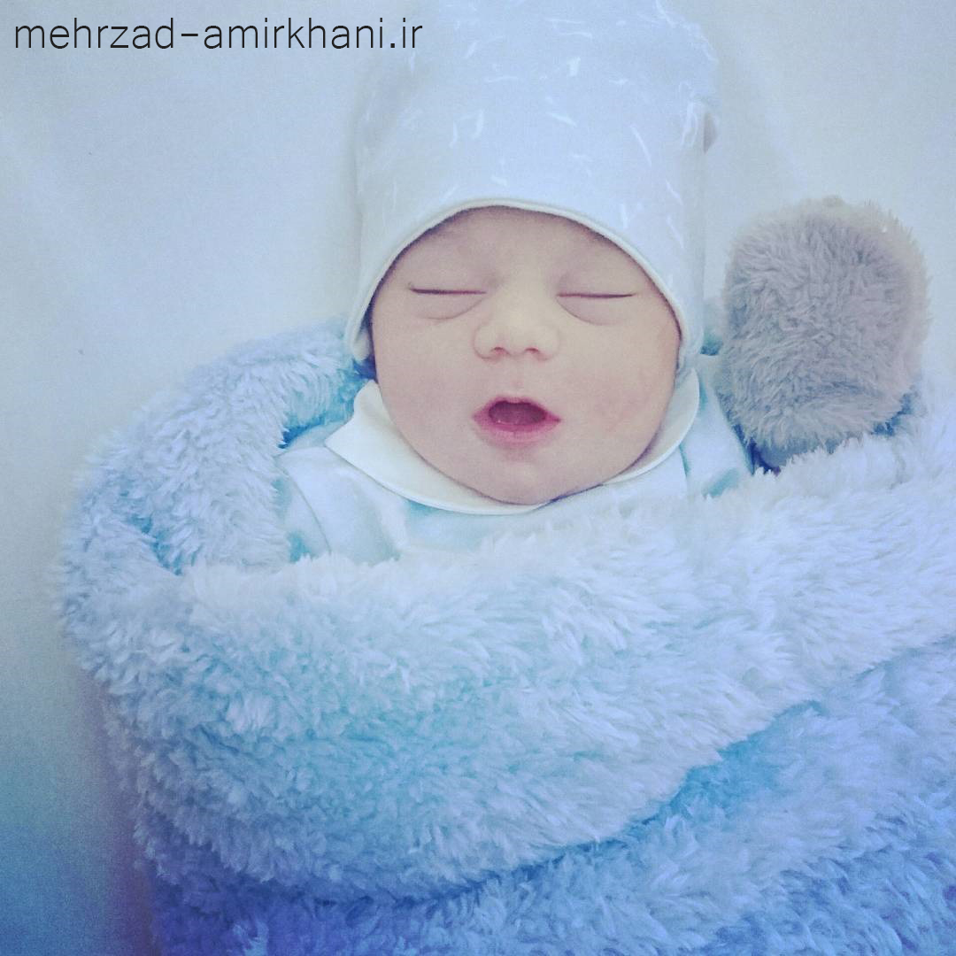 عکس بچه مهرزاد امیرخانی